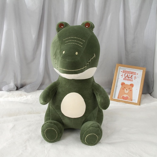 Plush Green Sitting Crocodile