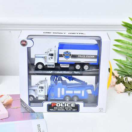 Police Car Toy 2-in-1 Set