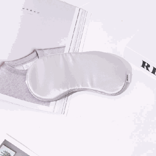 Silky Soft Sleep Eye Mask (Gray)