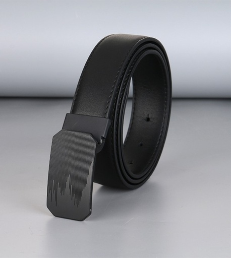 Simple Business Style Leather Belt for Men (Black)