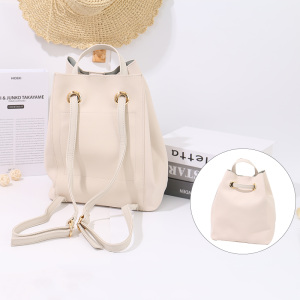 [XVBBP00094] Simple Casual Style PU Handbag Backpack (Light Apricot)