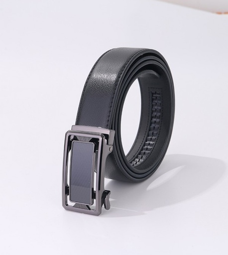 Simple Style Automatic Buckle Leather Belt
