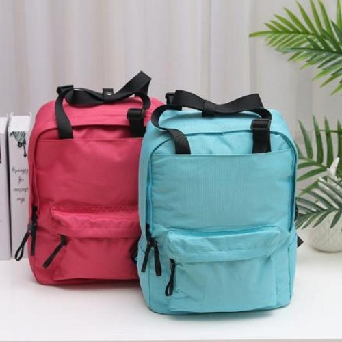 [XVBBP02147] Simple Style Multi-Function Solid Color Backpack