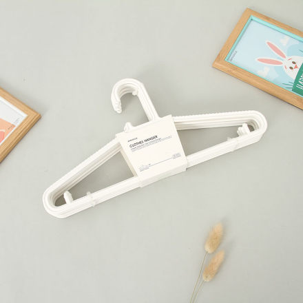 Simple Style Non-Slip Clothes Hanger (8 Count)(White)