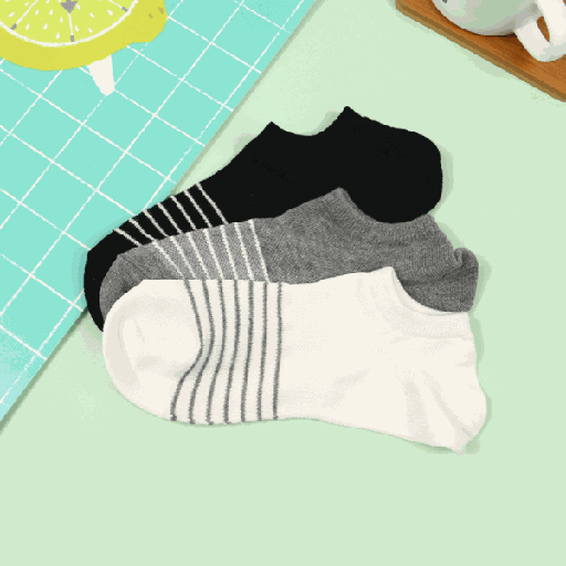 Simple Style Striped Low-Cut Socks for Men (2 Pairs)