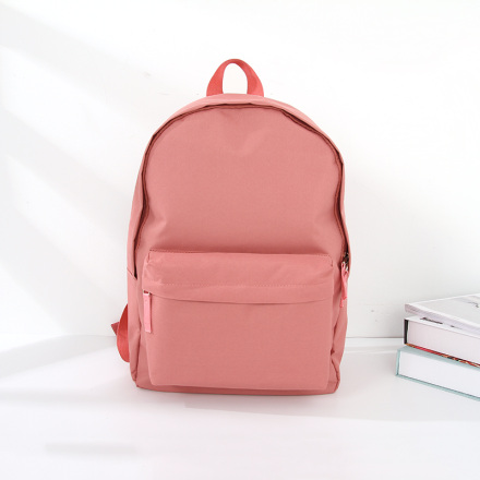 [XVBBP00036] Simple Style Vogue Lightweight Cloth Backpack (Pink)