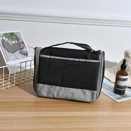Storage Bag for Toiletries with Carry Strap(Black)