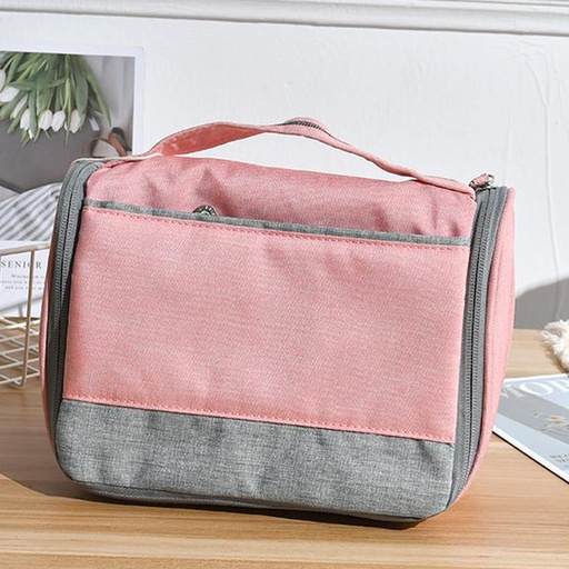 Storage Bag for Toiletries with Carry Strap(Pink)