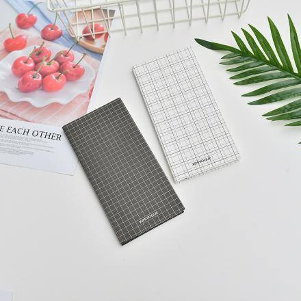 [XVOSS01628] Geometry Plaid Planner Notebook (White)