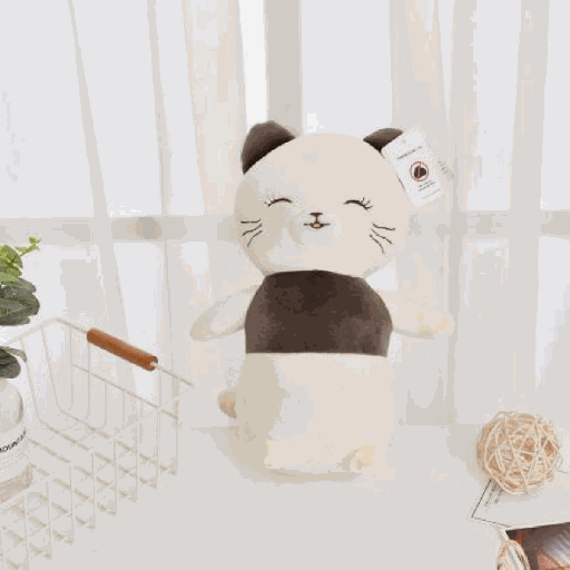 [XVTSPD02080] Happy Cat Plush Doll(Small-Sized)