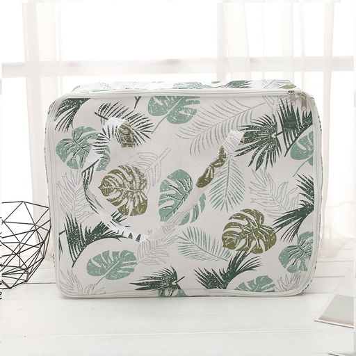 Large-Sized Nordic Style Leaves Pattern Storage Organizer Bag