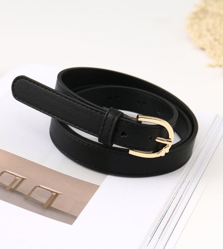 [XVSPB02600] Loving Heart PU Belt for Women (Black)