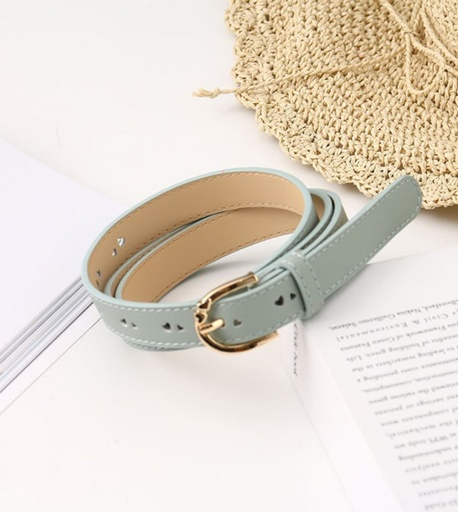 [XVSPB02601] Loving Heart PU Belt for Women (Blue)