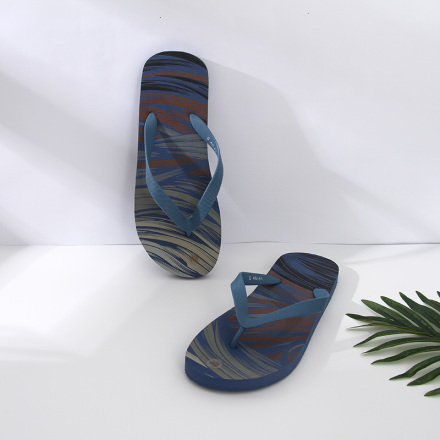 Summer Style Trendy Flips Flops for Men (Light Blue)(44/45)