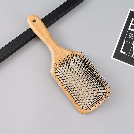 [XVHBMT02330] Bamboo Square Air Cushion Hair Brush (Large Size)