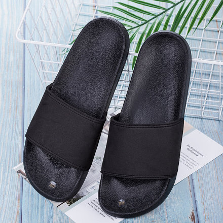 Black and White Slippers for Men (Black)(41/42)